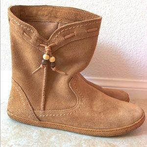 UGG suede short boots chestnut color